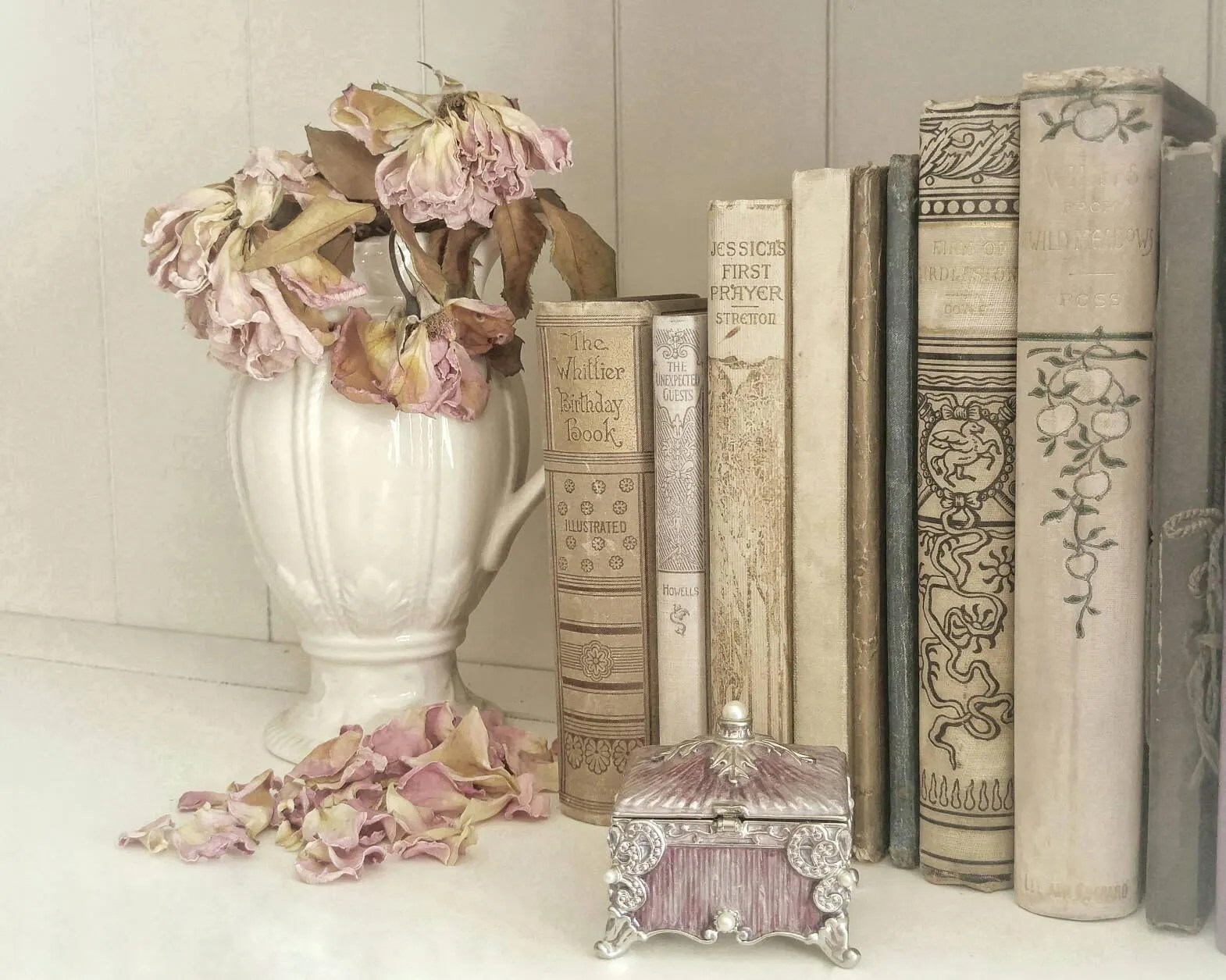 faded roses and antique