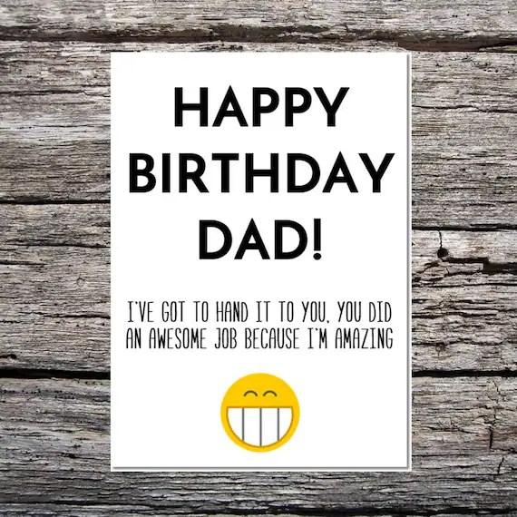 dad birthday card funny