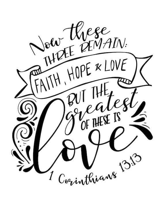 Calligraphy / Lettering Practice Bible Verse Faith Hope