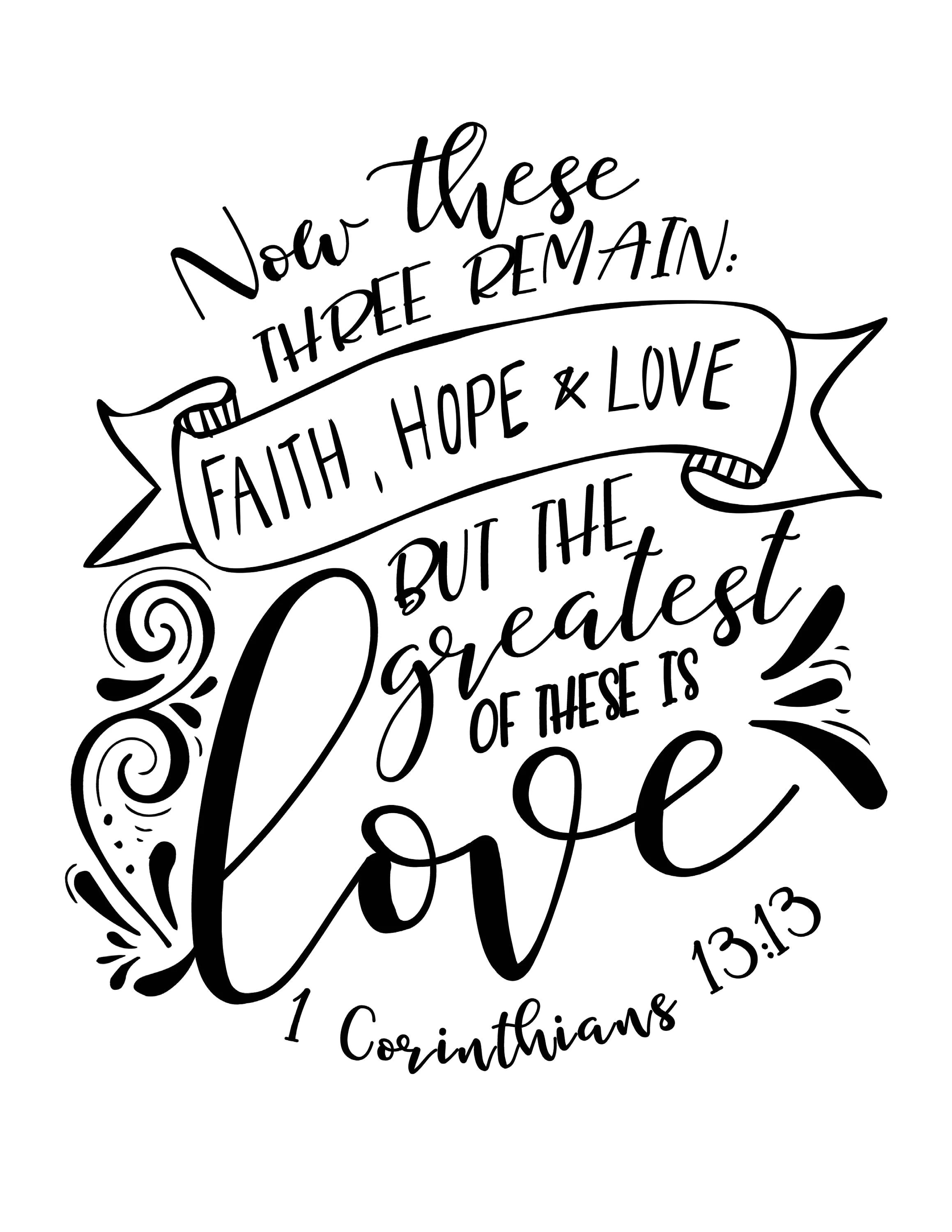 Calligraphy Lettering Practice Bible Verse Faith Hope