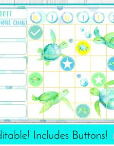 Image also editable sea turtle chore chart reward behaviour and etsy rh