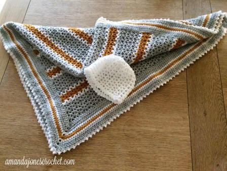 Crochet Pattern V Stitch Baby Blanket