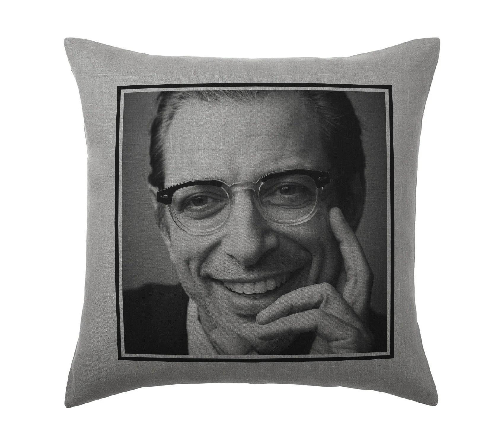 jeff goldblum pillow etsy