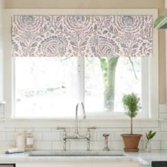 Blue Kitchen Valance Home Depot Designs Window Medallion Curtains Etsy Image 0