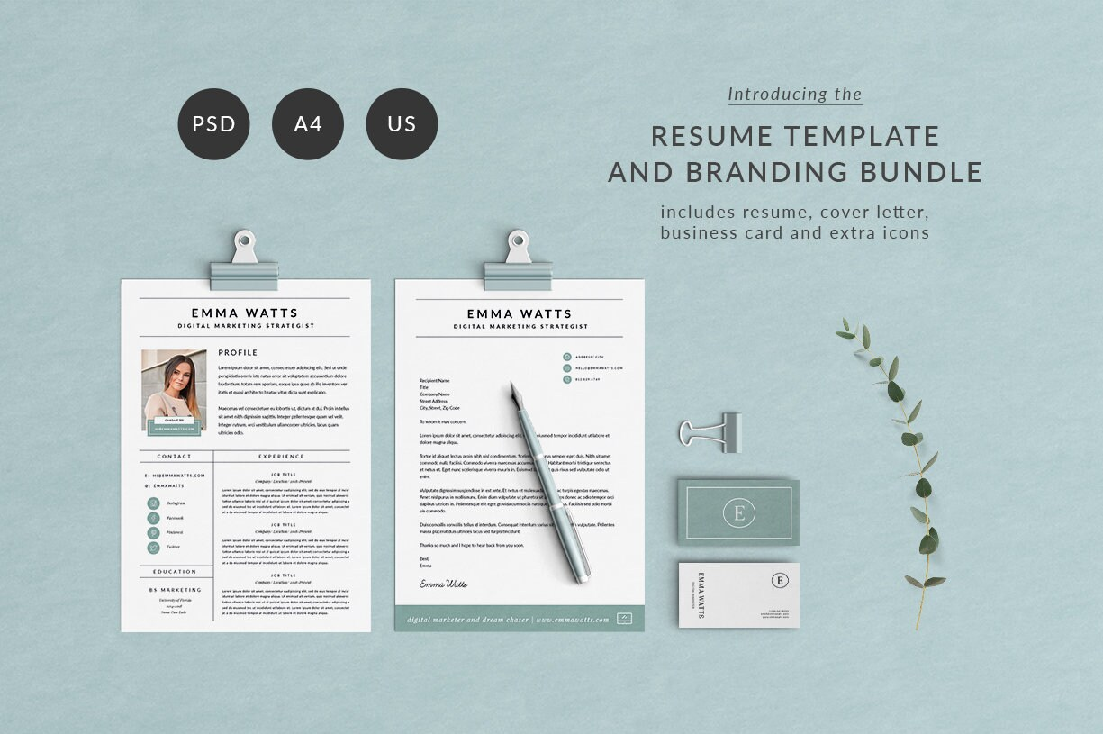 Currency Strategist Cover Letter Modern Resume Template Cv Template Cover Letter Professional And Creative Resume Modern Resume Photoshop Resume Instant Download
