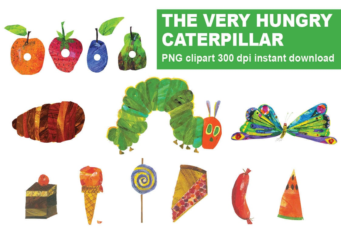 Instand Dl The Very Hungry Caterpillar Cliparts Party Favors