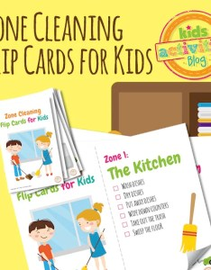 Image also zone cleaning chore chart flip cards for kids etsy rh