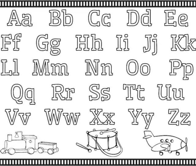 Coloring Pages Alphabet Numbers Shapes Preschool Kindergarten Etsy