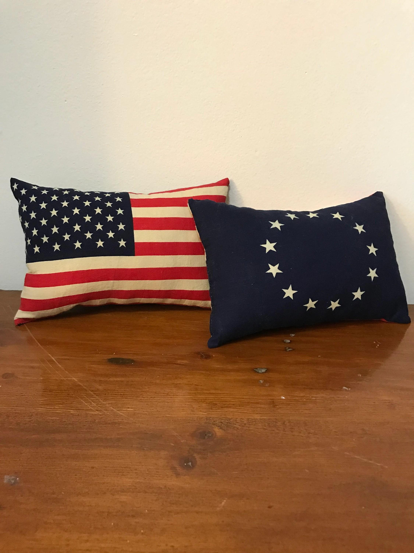 flag pillows etsy