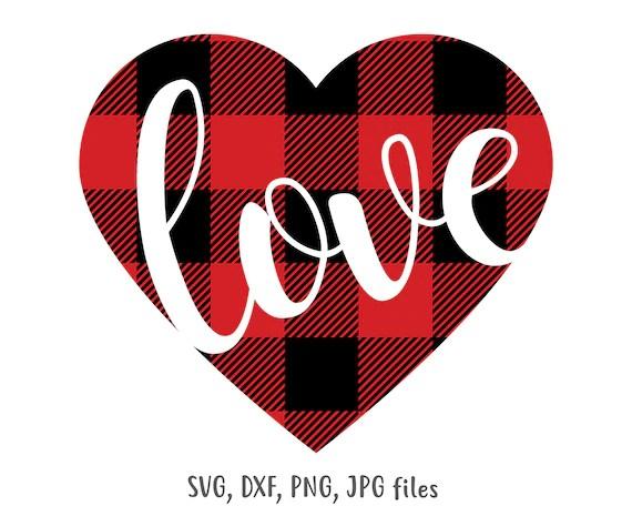 Download Love Heart svg Plaid Heart Valentine svg Valentines svg | Etsy