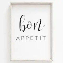 Kitchen Prints Distressed Island Etsy Bon Appetit Print Home Art Food A3 A4 A6 Typography Quote French