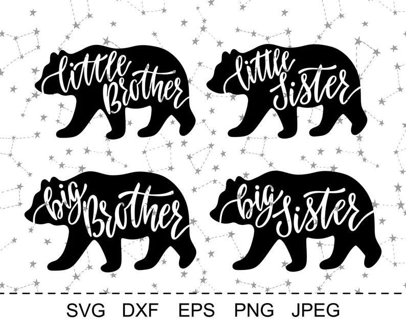 Download Big Brother Bear SVG Big Sister Bear SVG Bear Family Svg ...