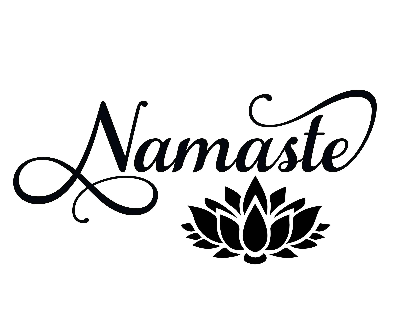 Namaste Svg Lotus Flower Yoga Svg Cut Files For Silhouette