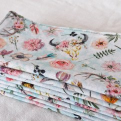 Kitchen Napkins Natural Gas Stove Etsy Light Blue Botanical Cloth Double Sided Reusable 2 Ply