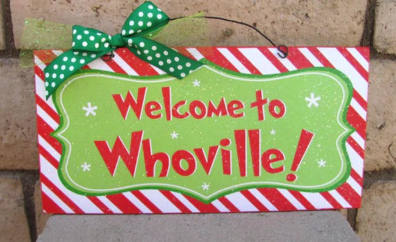 Whoville Welcome Sign Etsy