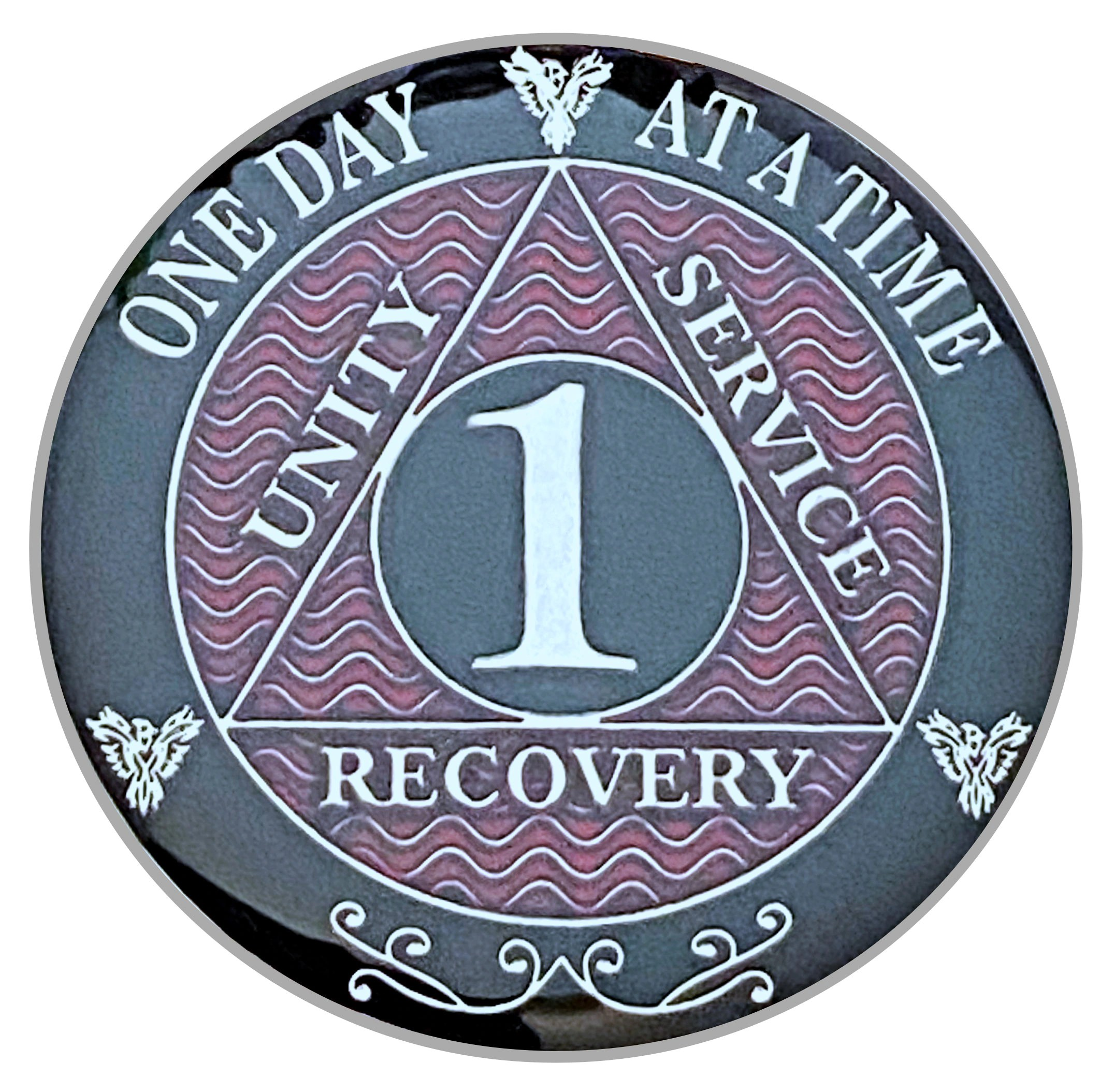 1 Year Aa Coin Silver Color Plated Medallion Recovery