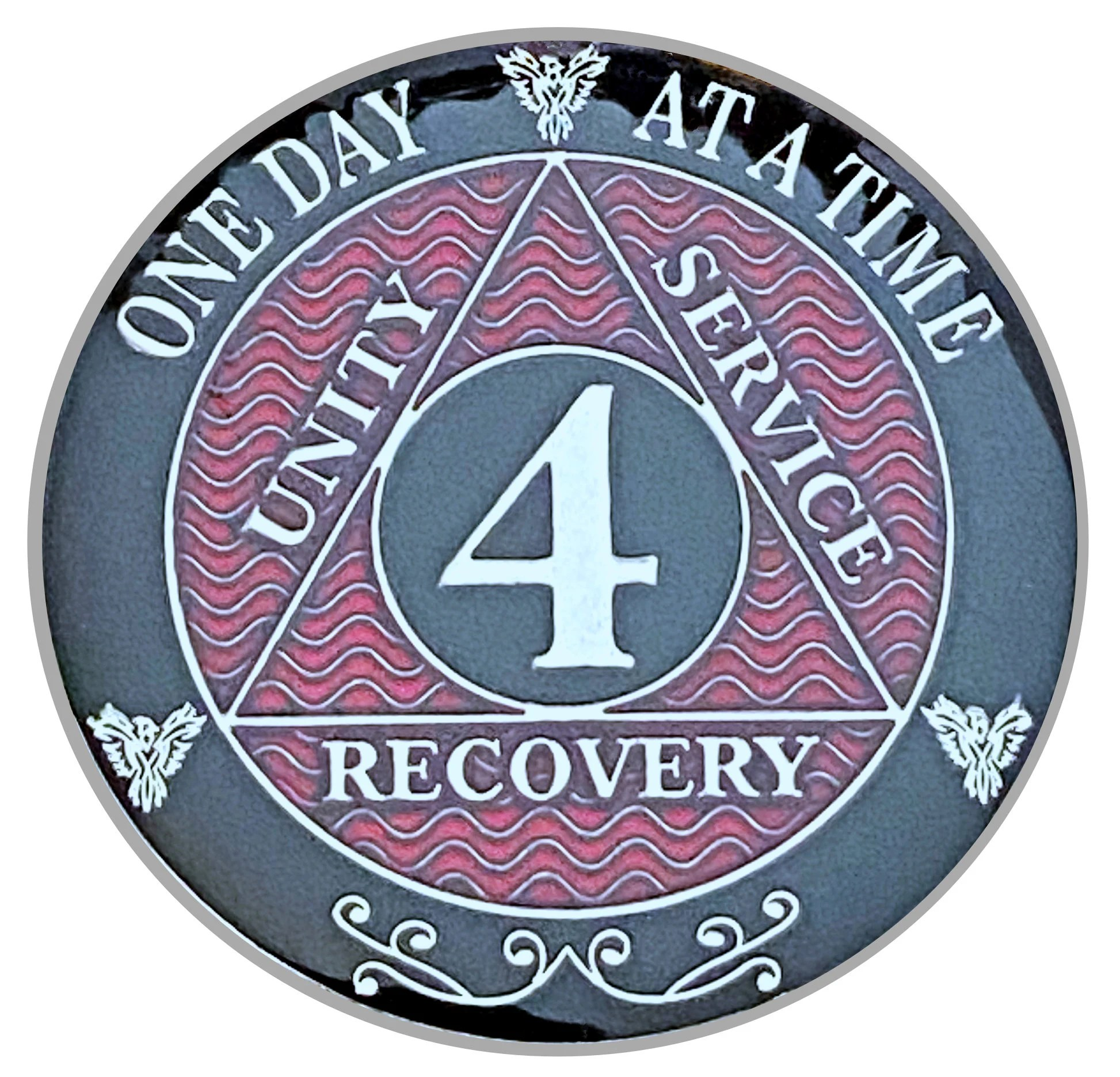 4 Year Aa Coin Silver Color Plated Medallion Recovery