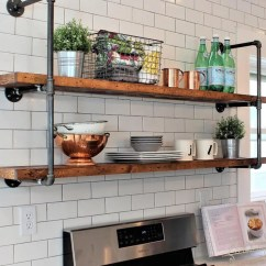Wood Shelves Kitchen Aid Cookware Etsy Barnwood Rustic Farmhouse Pipe Wall Unit 12 Depth Floating Open Industrial Extra Long