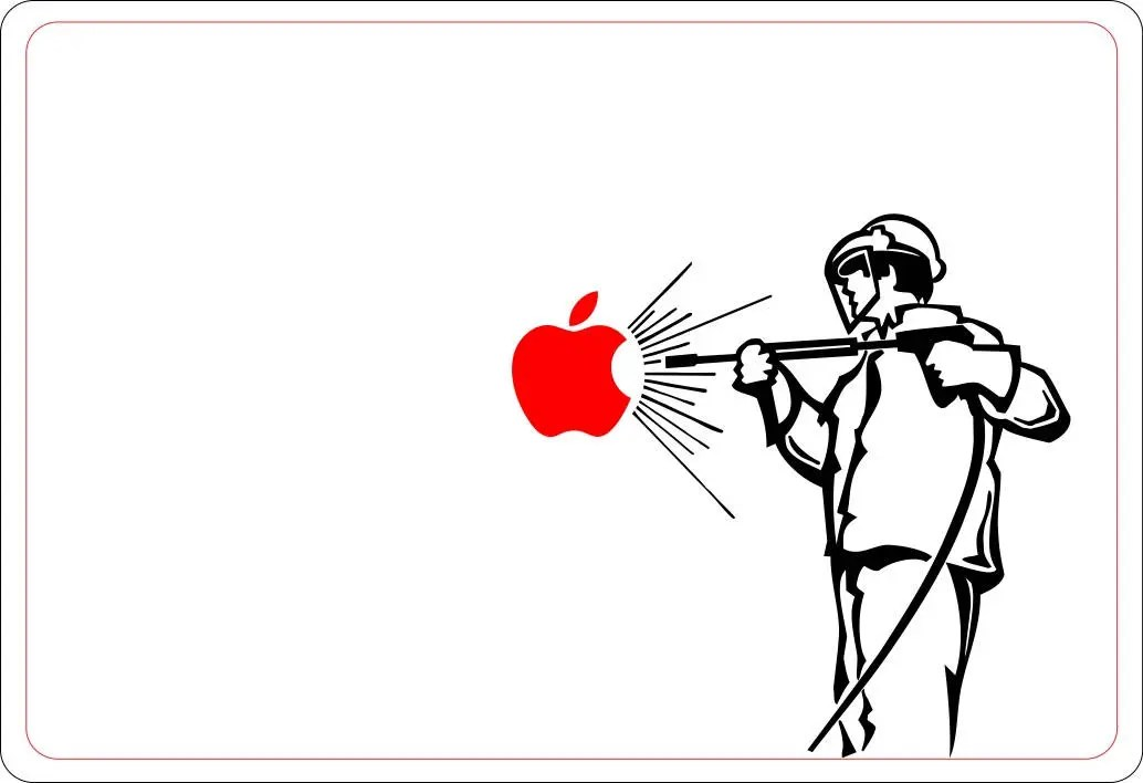 Apple Cleaner Decal Sticker, Cleaning, Power Tools, Water