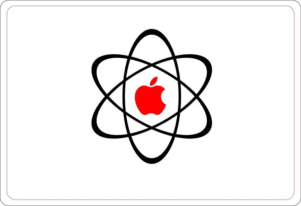 Apple AtomMacbook Decal, Laptop Decal, Sticker, Atoms