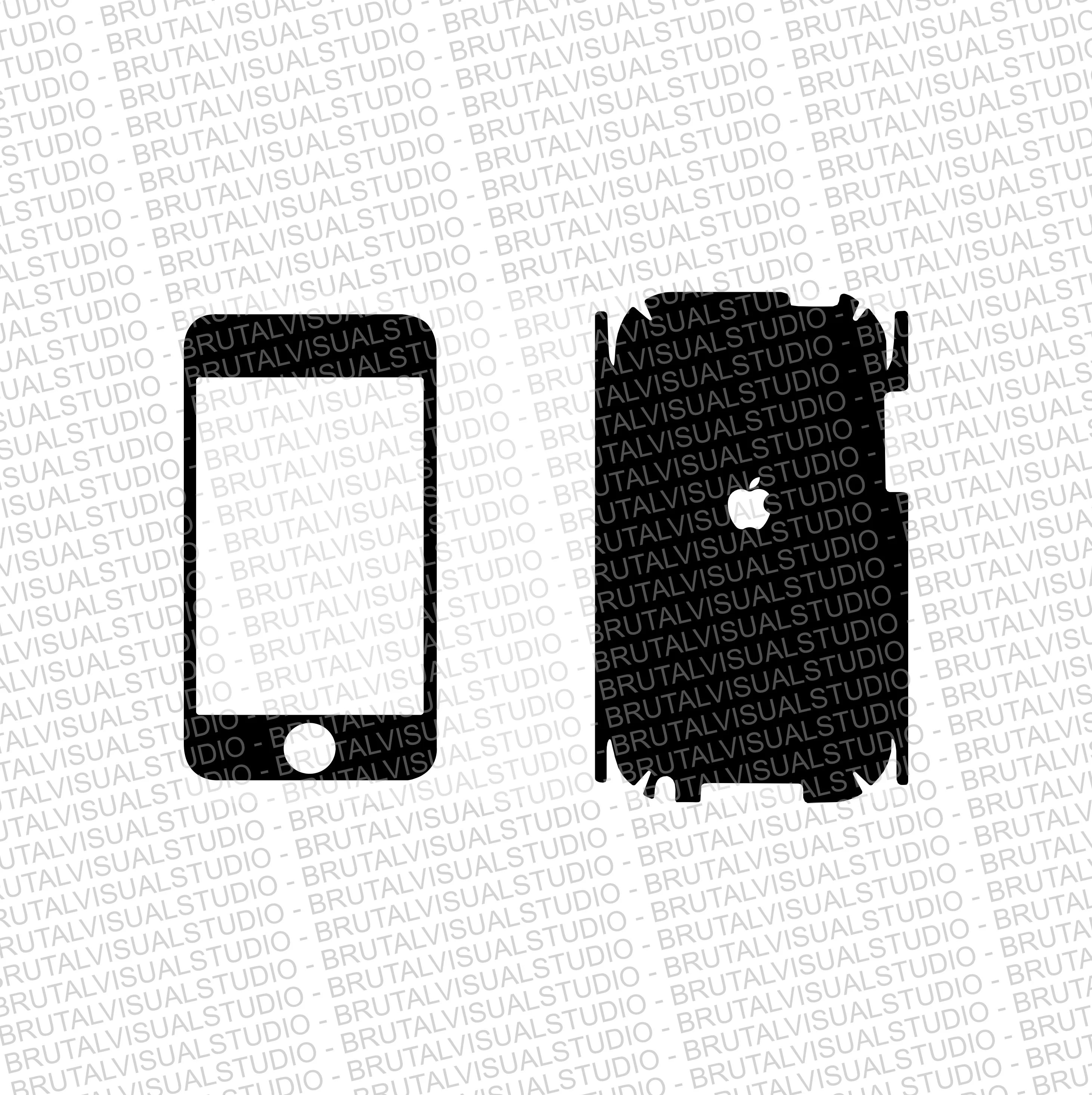 IPod Touch First GEN Skin template for cutting or