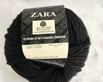 Vintage filatura di crosa zara merino wool yarn black gr yds italy also etsy rh