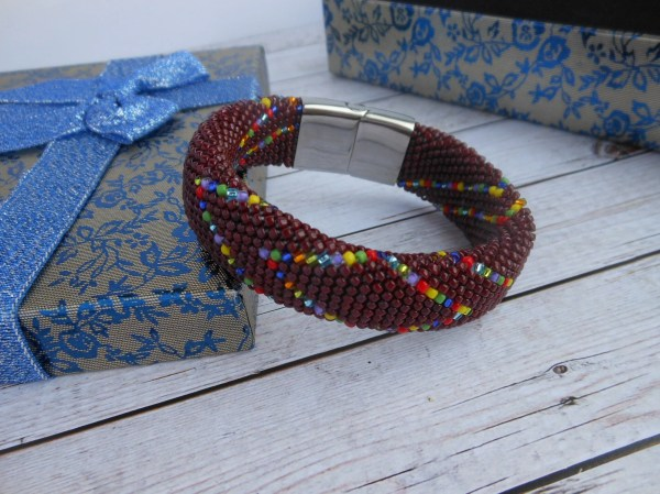 Oya Bracelet Orisha Beads Colors Yansa