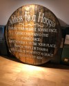 Personalised Oak Whisky Barrel Lid Head End Family Plaque Etsy