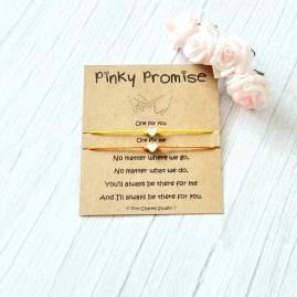 Set Of 2 Pinky Promise bracelets BFF Best Friends Friendship image 0