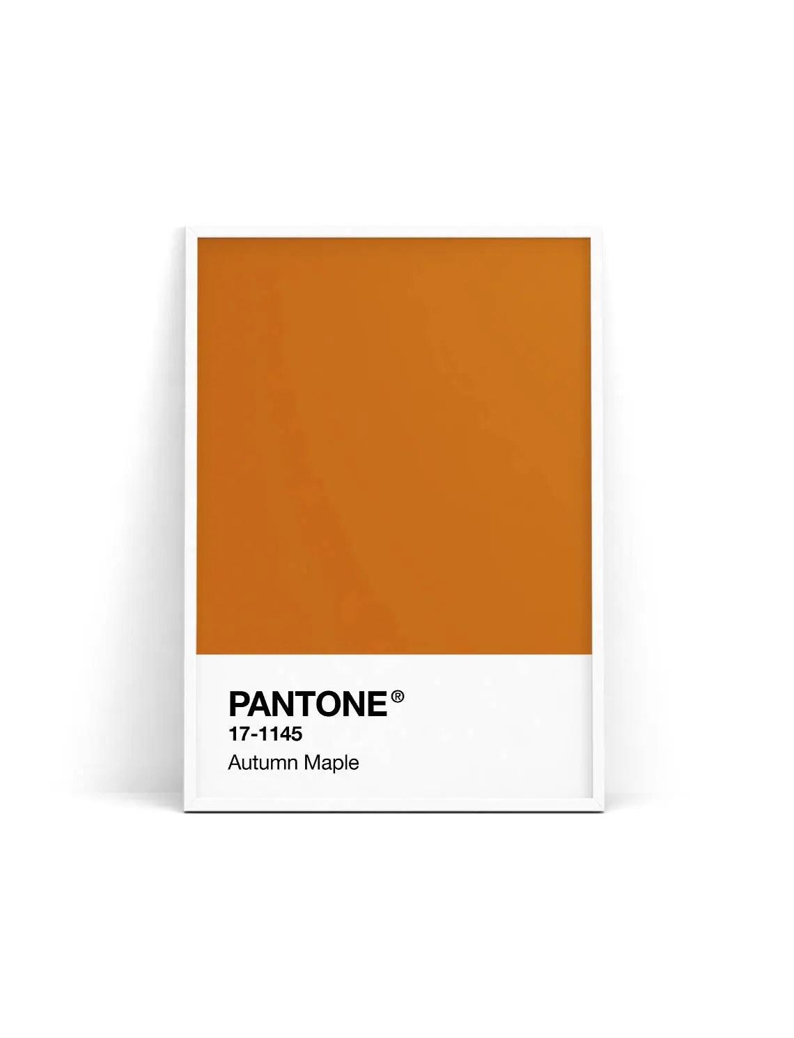 pantone print pantone poster pantone autumn maple pantone fall 2017 pantone orange pantone wall art pantone decor pantone printable
