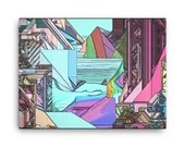 Abstract Digital Landscape #1 Canvas
