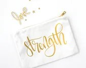 CUSTOM - Handlettered Word of the Year - Cosmetic Bags
