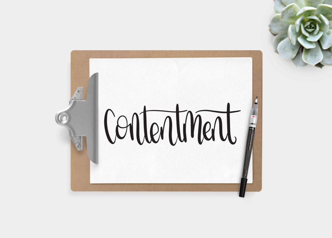 Hand Lettered Word of the Year - Contentment - INSTANT DOWNLOAD