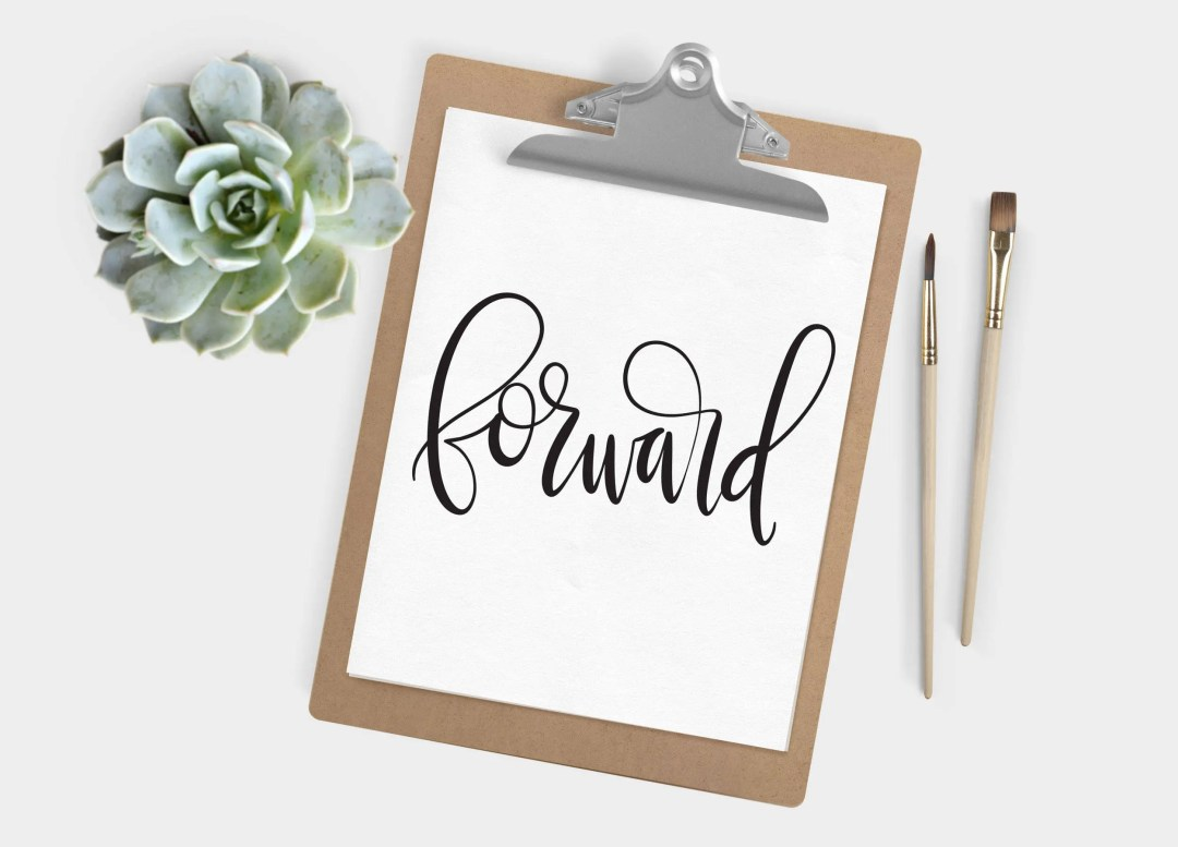 Hand Lettered Word of the Year - Forward - INSTANT DOWNLOAD