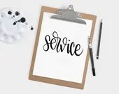 Hand Lettered Word of the Year - Service  - INSTANT DOWNLOAD