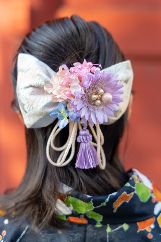 bouquet/hair accessories for wedding, bridal, photoshoot, party / floral hair comb / wedding hair piece/japanese hair accessories