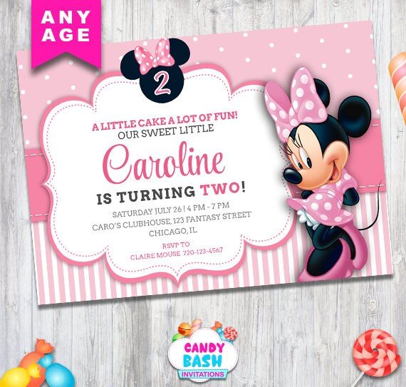 minnie mouse invitation minnie