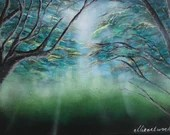 Into the Mist Acrylic Painting on Canvas