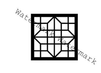 svg quilt block square stencil shamrock cut
