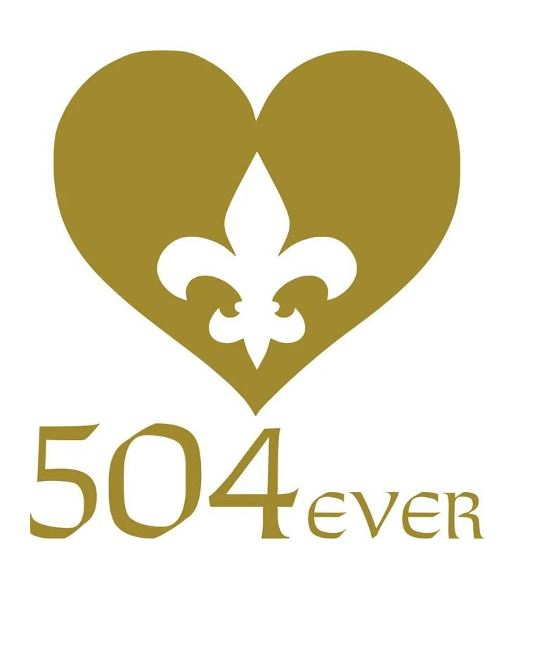 Download Love 504ever 504 NOLA Forever Saints SVG | Etsy