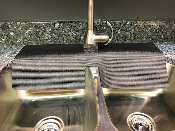 black kitchen faucet water splash edge guard protects from chipping 12in width x 27in length tm 4 copyright 2017 patent approved