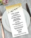 Custom Wedding Party Reception Menu Customizable Template Etsy