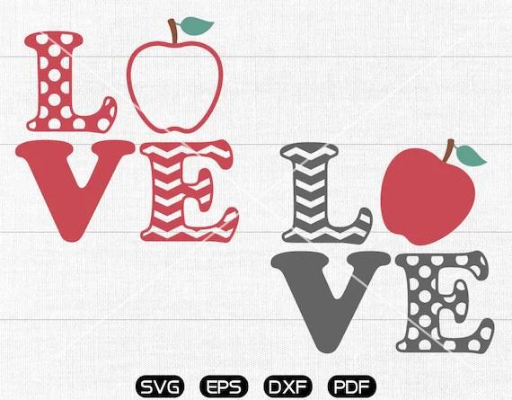 Download Love Teacher SVG Teacher svg Apple Clipart cricut   Etsy