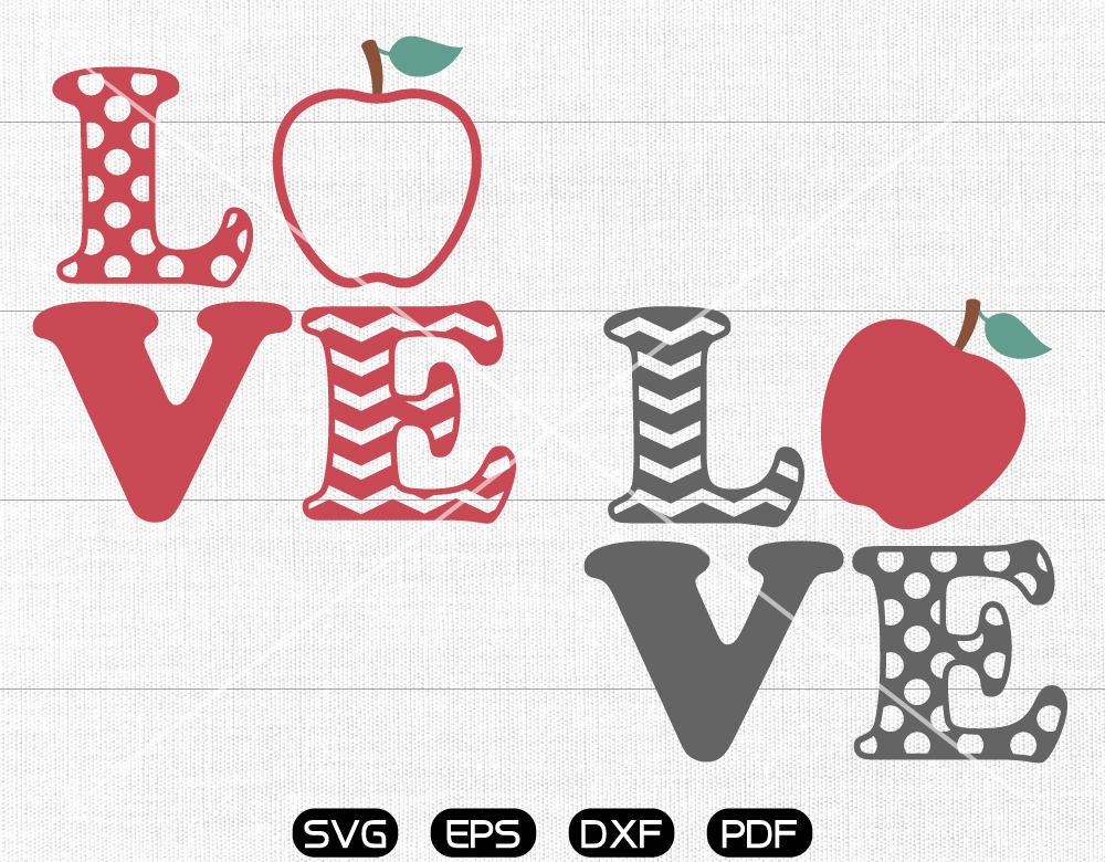 Download Love Teacher SVG Teacher svg Apple Clipart cricut | Etsy