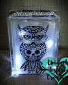 Candy Owl Light Up Glass Block Gift Etsy