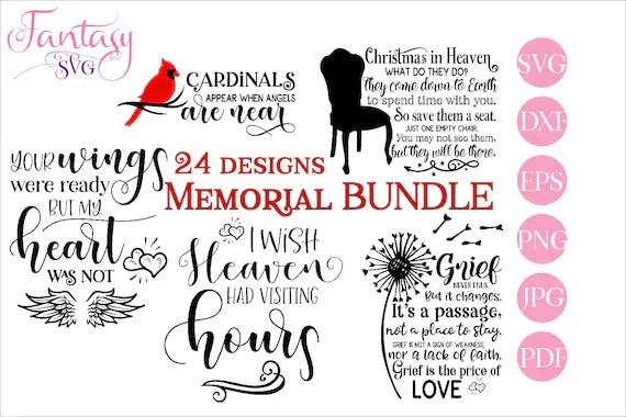 Download Memorial bundle, svg cut files cricut, in loving memory ...