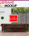 Christmas Mockup Wall And Frame Mockup Styled Photography Etsy