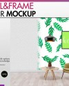 Room Mockup Wall And Frame Mockup Styled Stock Photography Etsy