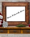 Frame Mockup Christmas Rustic Wood Picture Frame Mock Up Etsy