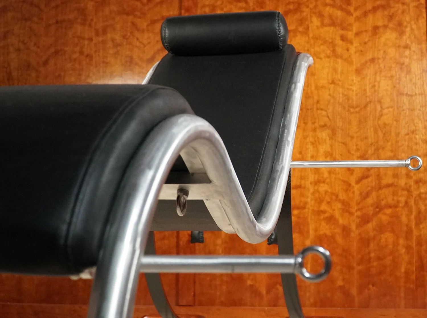 Best Sex Chair Luxury Bdsm Sex Furniture Brushed Aluminum Carbon Fiber And Your Choice Of Wood Bondage And Domination Fetish Package